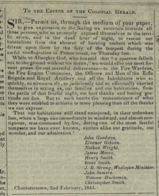 Colonial Herald, Charlottetown, February 3, 1844