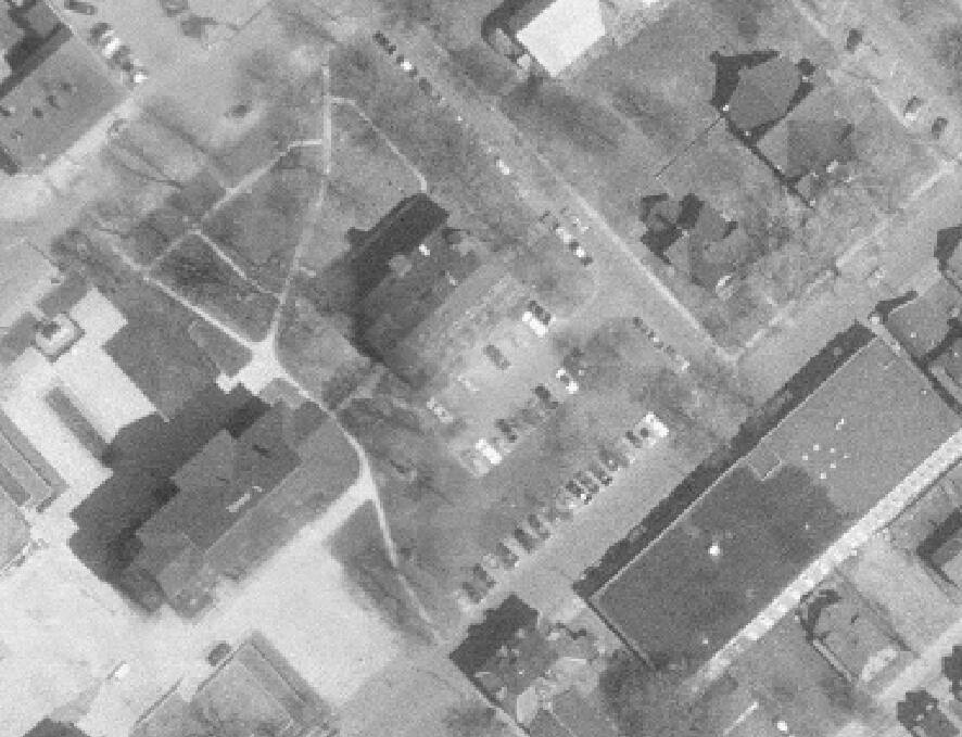 1968 aerial photo of Coles Building