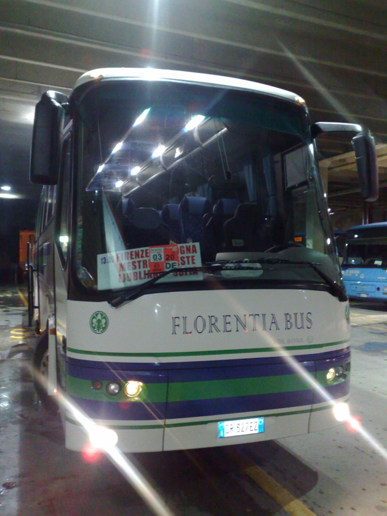 Photo of the bus that took us from Venice to Ljubljana