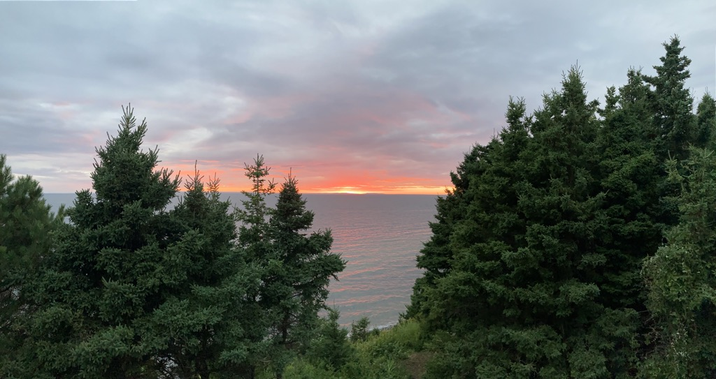 Sunset over the ocean in Eastern Cape Breton