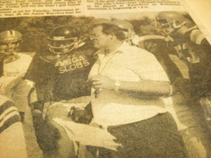 Don Brescacin, football coach and phys ed teacher, from the Flamborough Review newspaper, circa 1984.