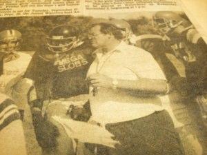 Don Brescacin, football coach and phys ed teacher, from the Flamborough Review newspaper, circa 1984.