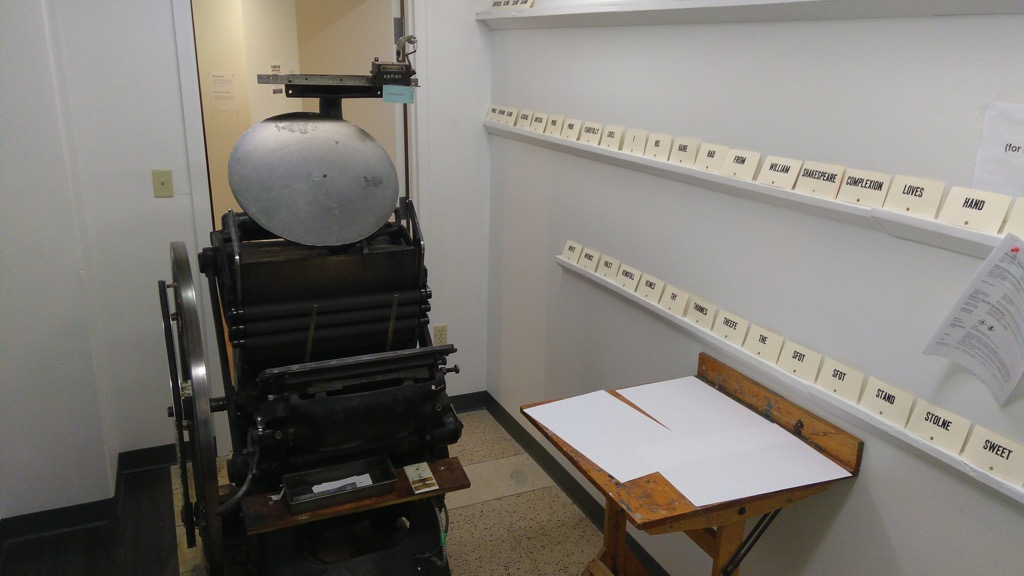 Photo of the print shop