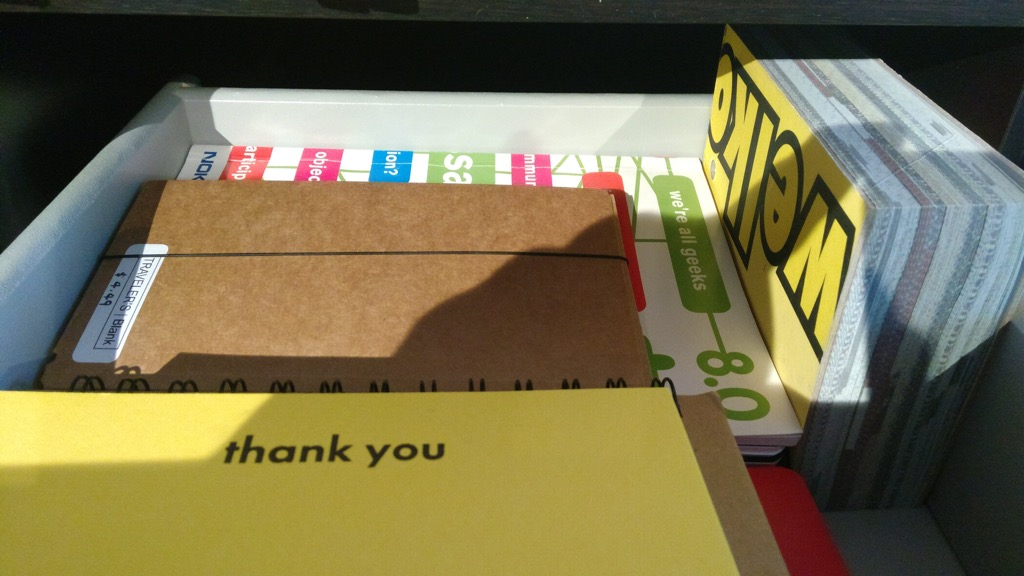 Photo of the Thank You Cards and Large Notebooks drawer