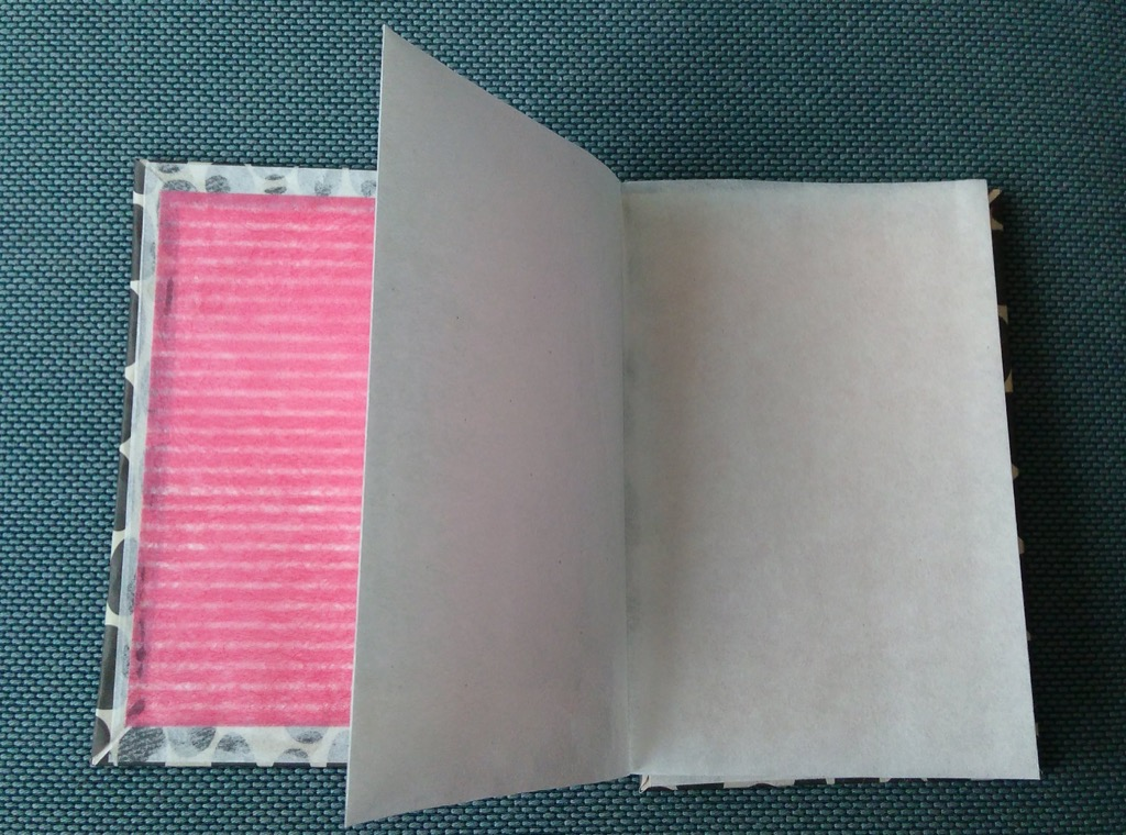 Accordion book open