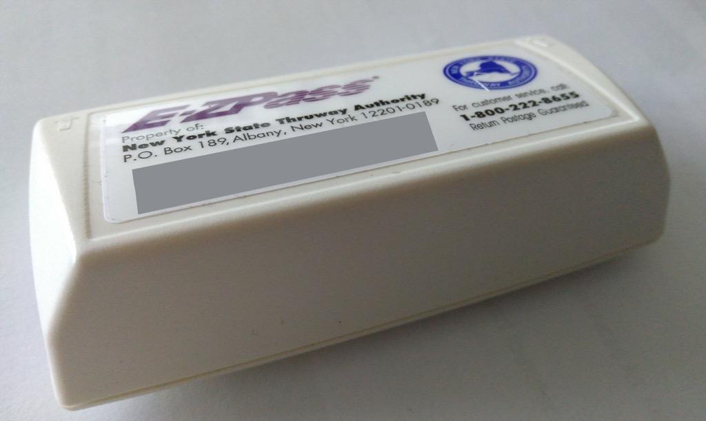My E-ZPass Transponder