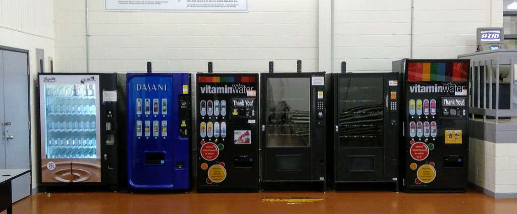 Empty Soda Machines at Colonel Gray