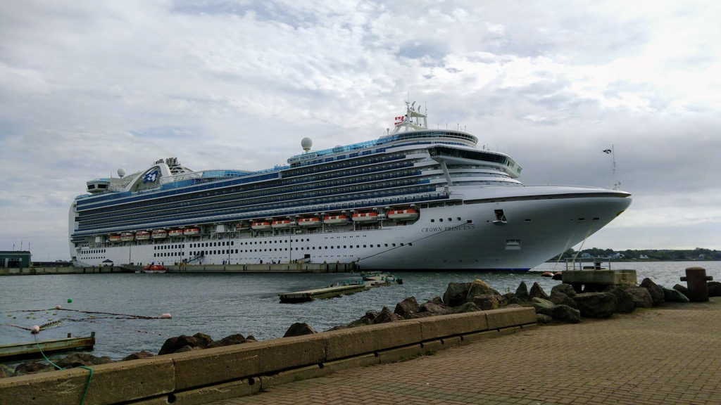 Crown Princess at port in Charlottetown