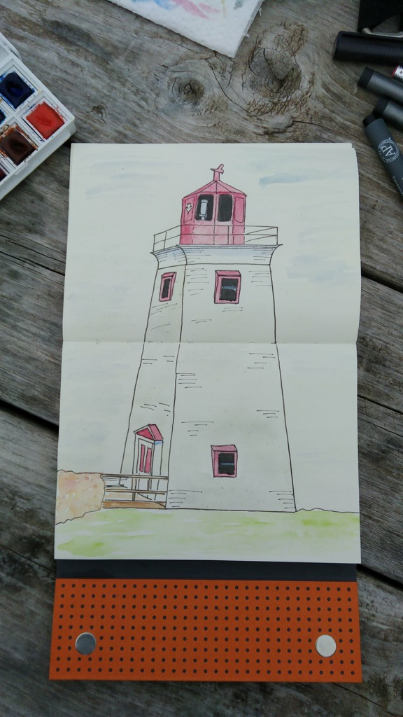 Sketch of Victoria Lighthouse
