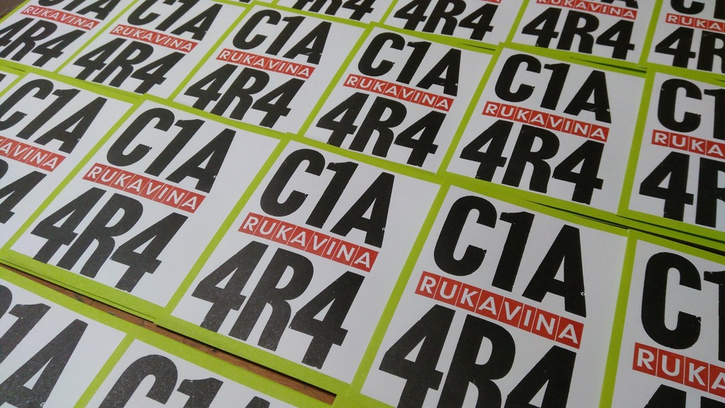 C1A 4R4 envelopes with red printing