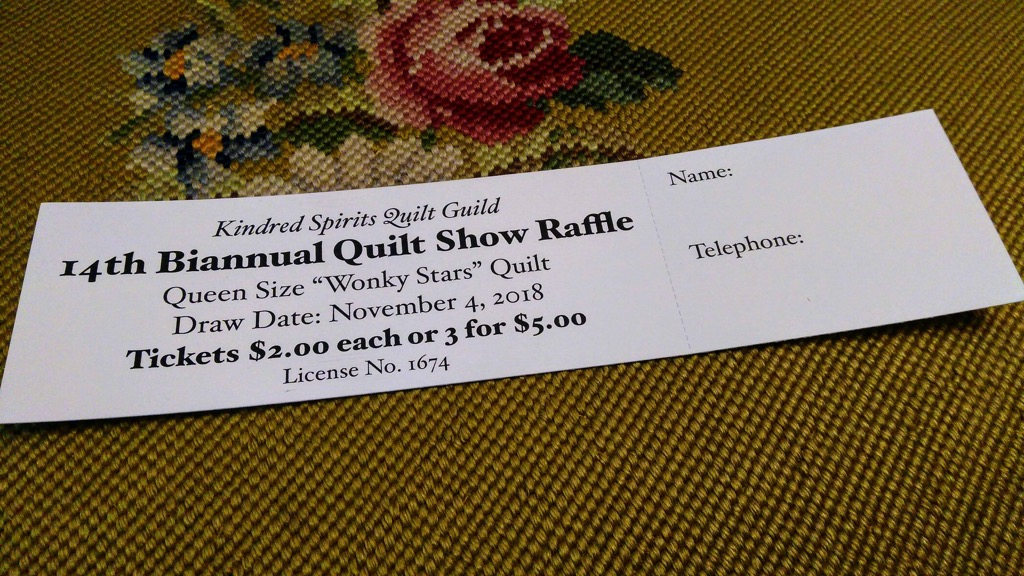 Photo of Kindred Spirits Quilt Draw ticket