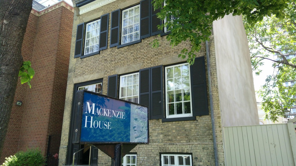 Photo of Mackenzie House on Bond Street in Toronto