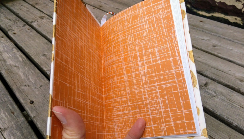 Photo of endpapers of my hardcover sketchbook.