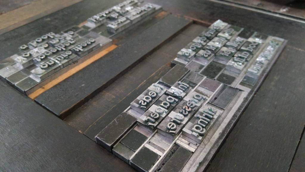 Sneak Peak on my Artist Trading Card letterpress type