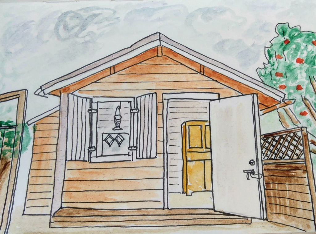 Sketch of the cottage