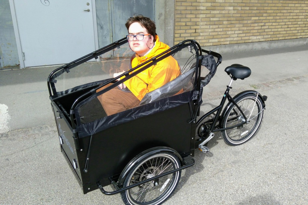 Oliver in a Cargo Bike