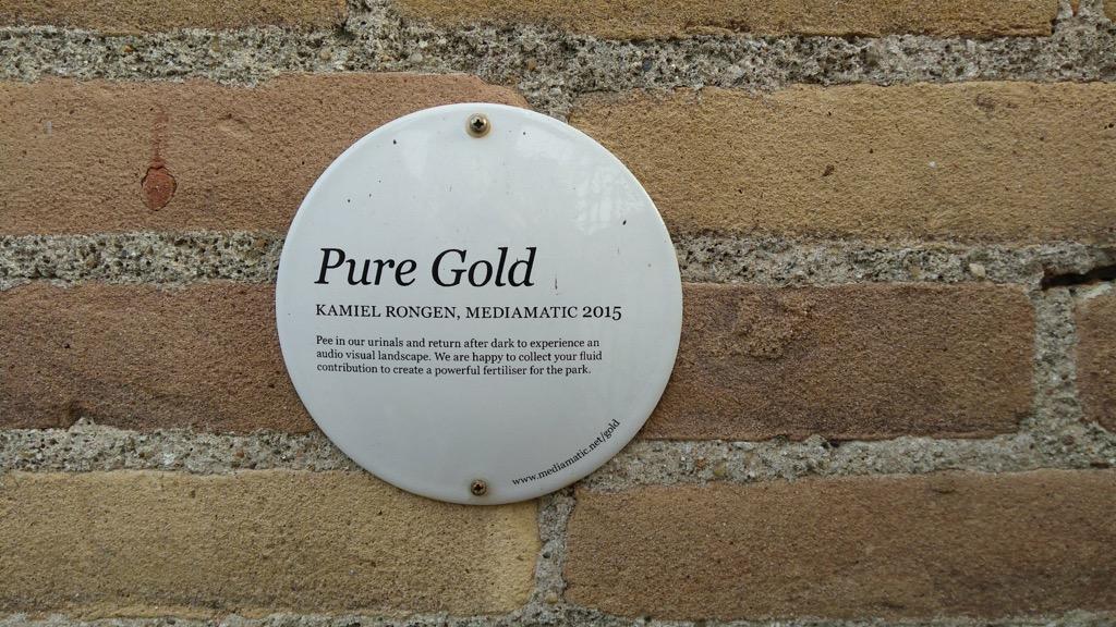 Pure Gold at Mediamatic