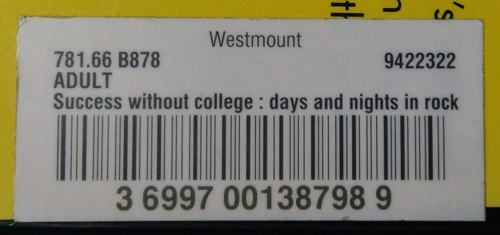 Barcode from Success without College