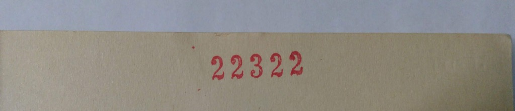 Accession number of the book stamped on the title page