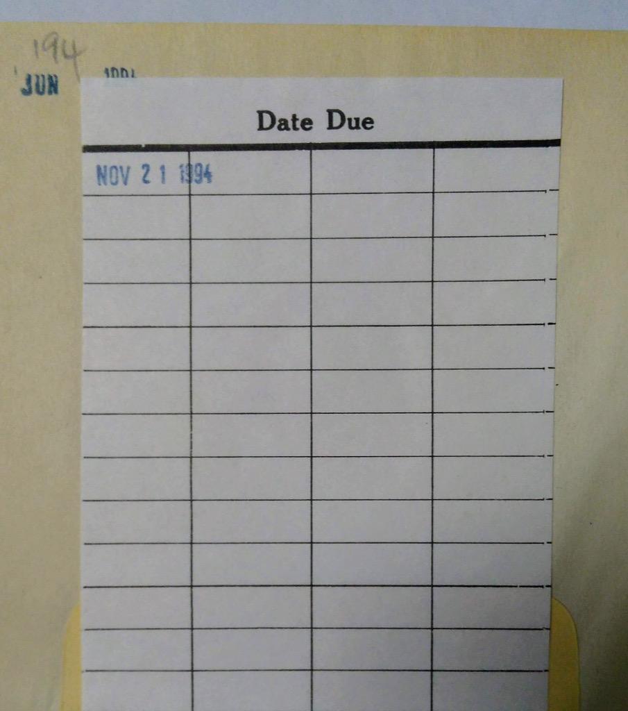 Date Due Slip