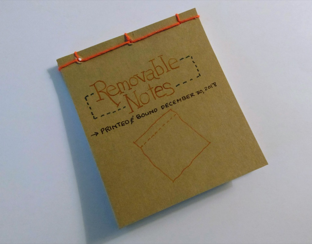 Photo of the front of the Removable Notes Notebook