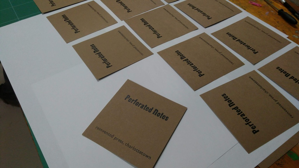 Perforated Notes covers drying.