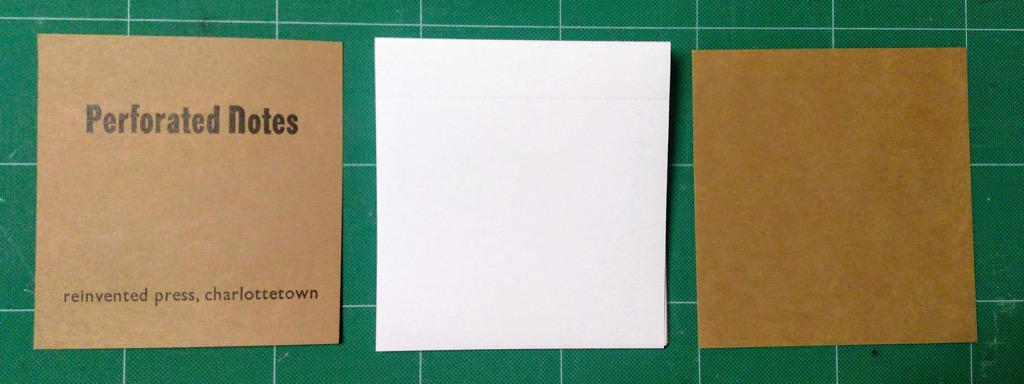 Photo of raw materials for each notebook.