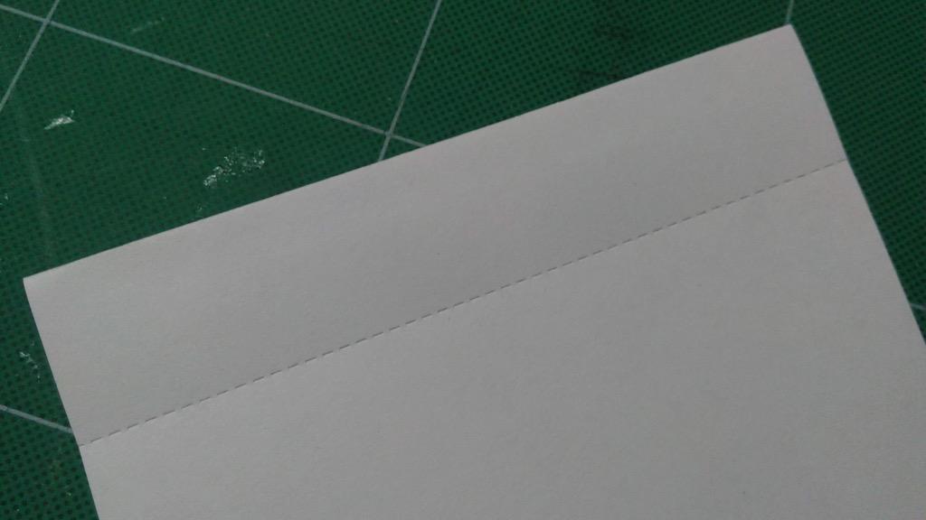 Photo of perforated signature.
