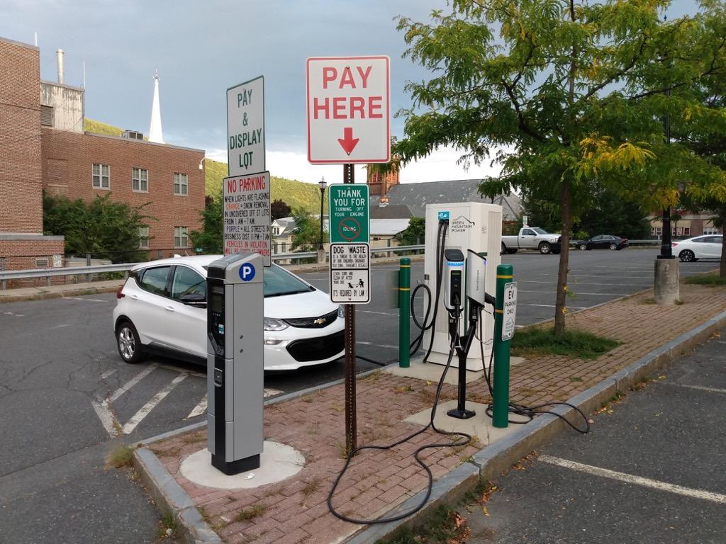 EVgo charger in Brattleboro, Vermont