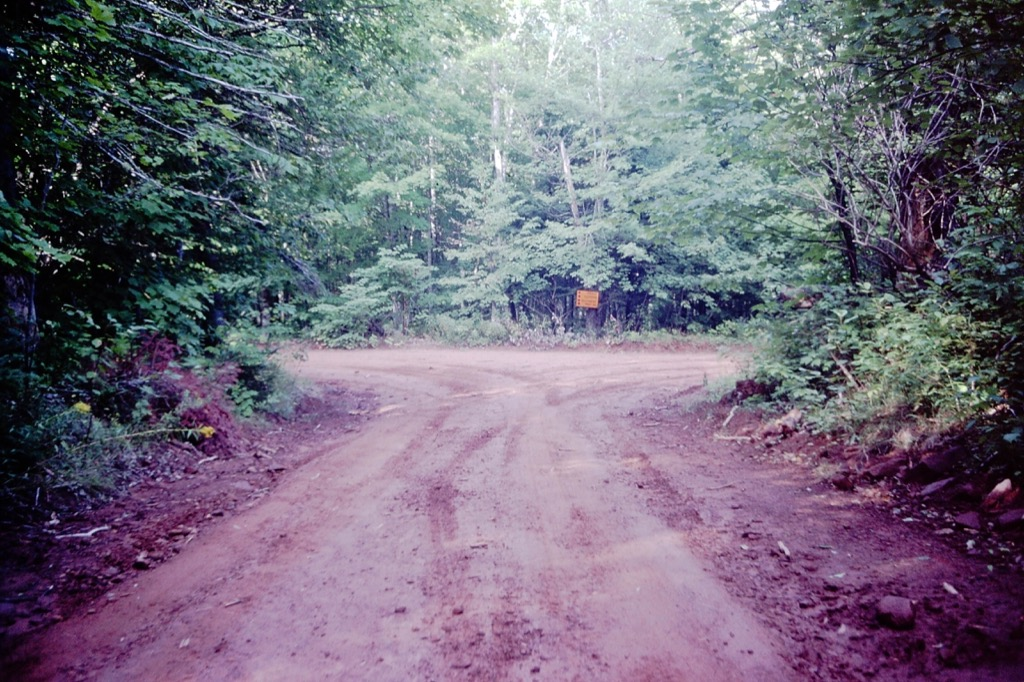 Clay road fork on PEI.
