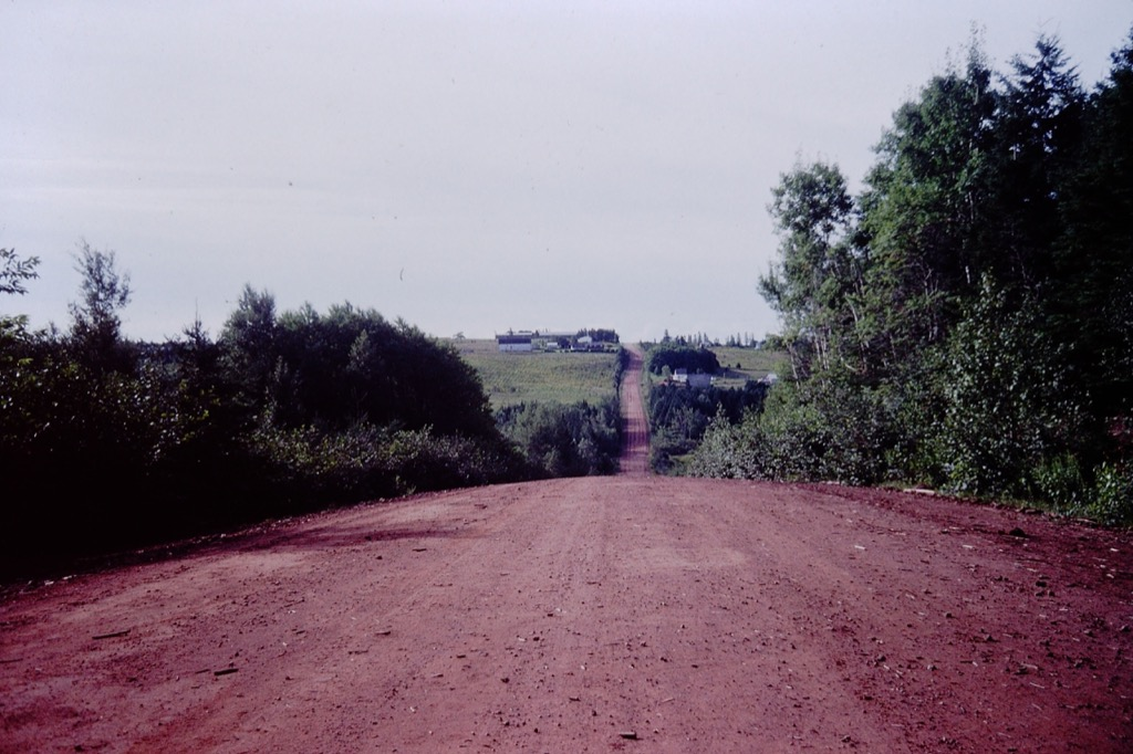 Clay road, hill, PEI, 1994.