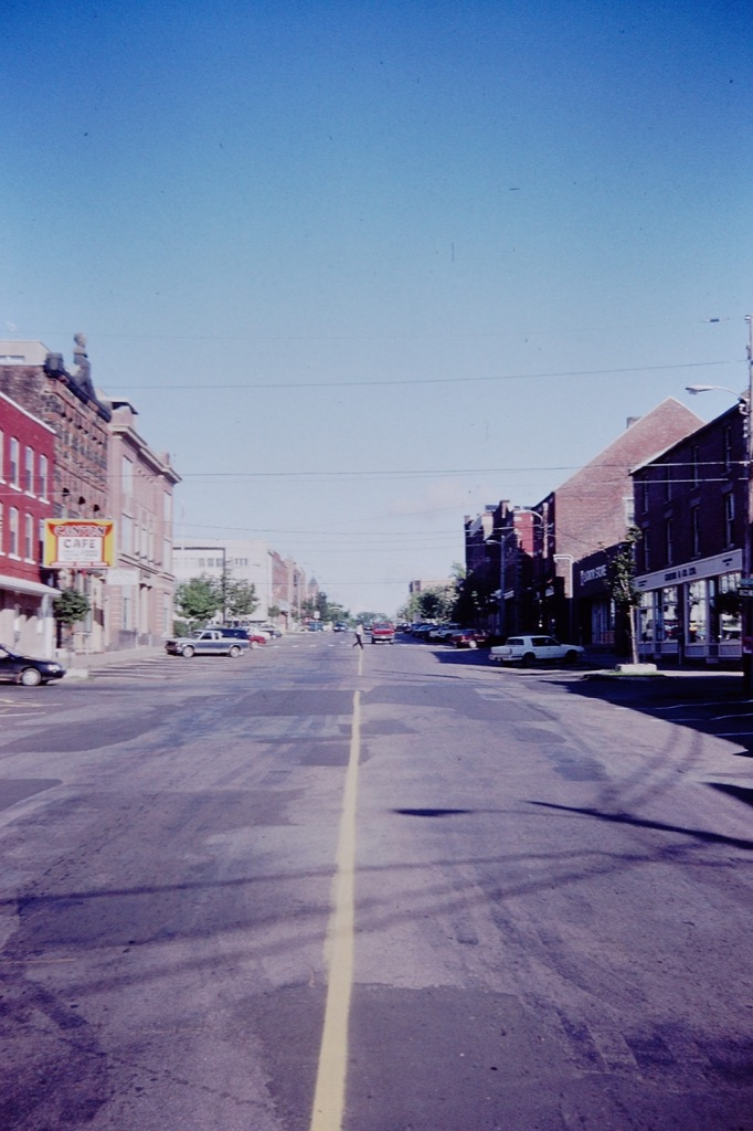 Queen Street in Charlottetown, looking up from Sydney, 1994