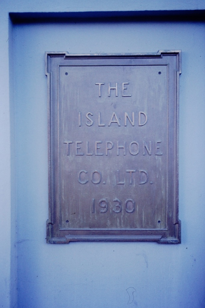 Island Tel sign at Queen and Fitzroy, 1994