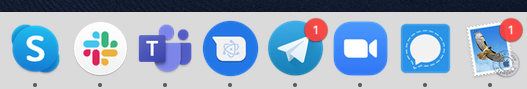 The many messaging apps running on my desktop all the time.