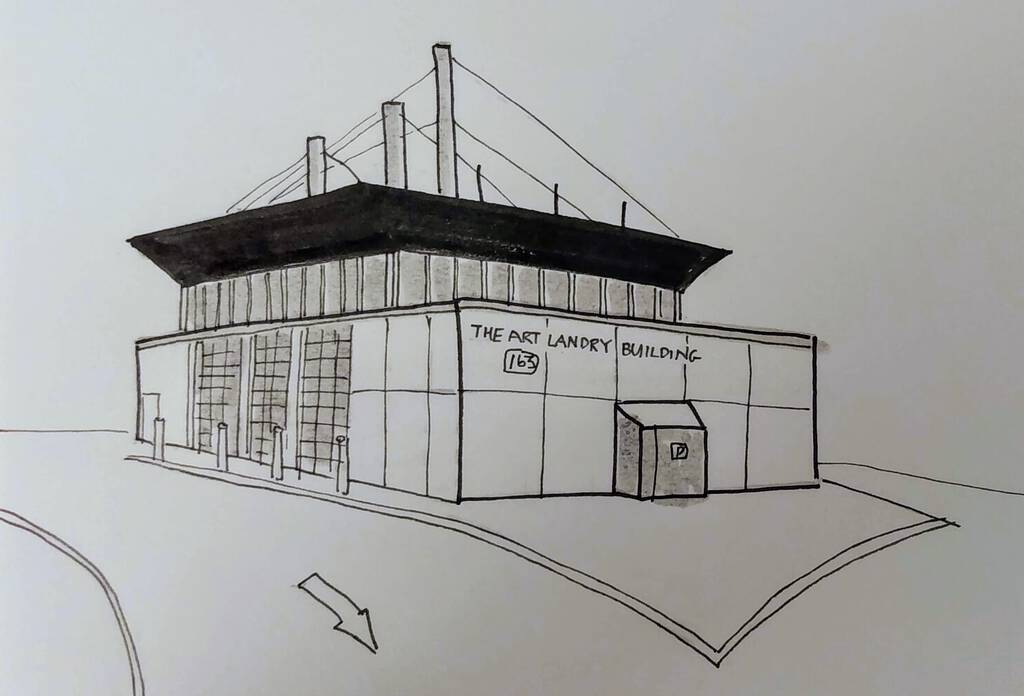Sketch of The Art Landry Building