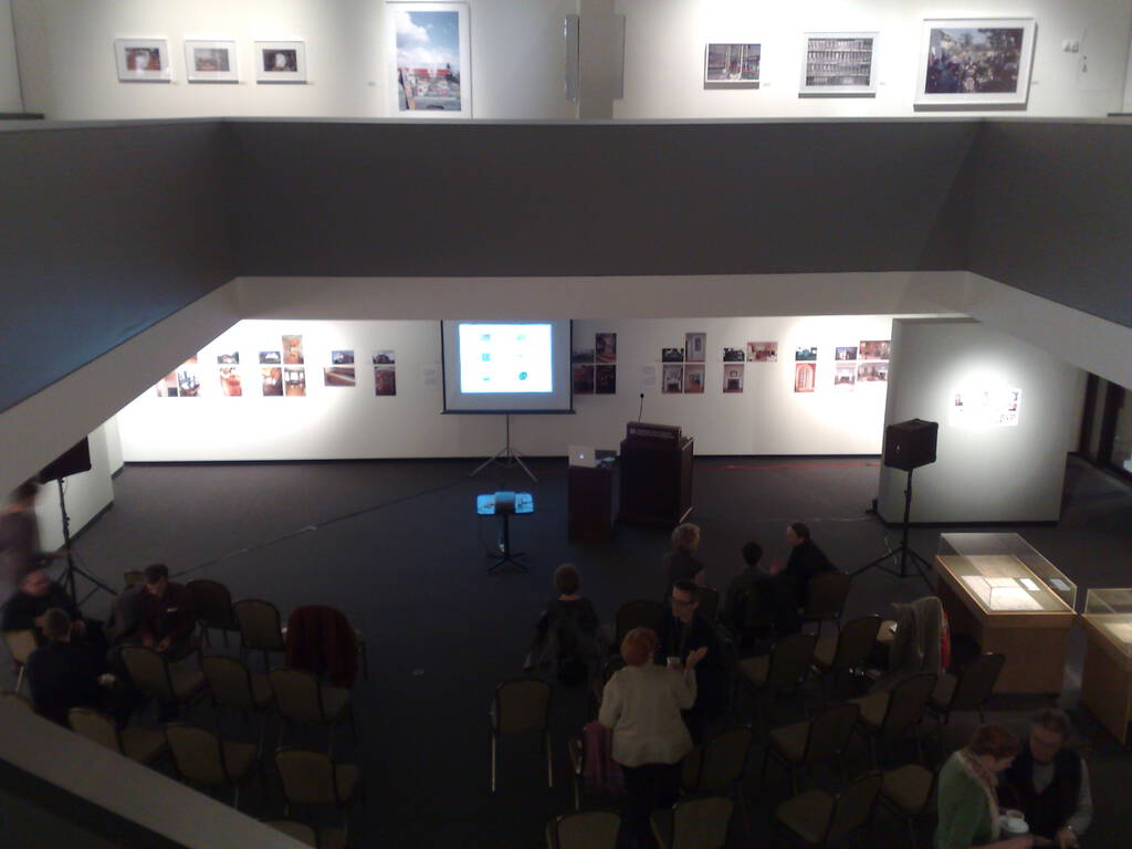 Olle and Luisa giving an Art Talk at the Confederation Centre Art Gallery.