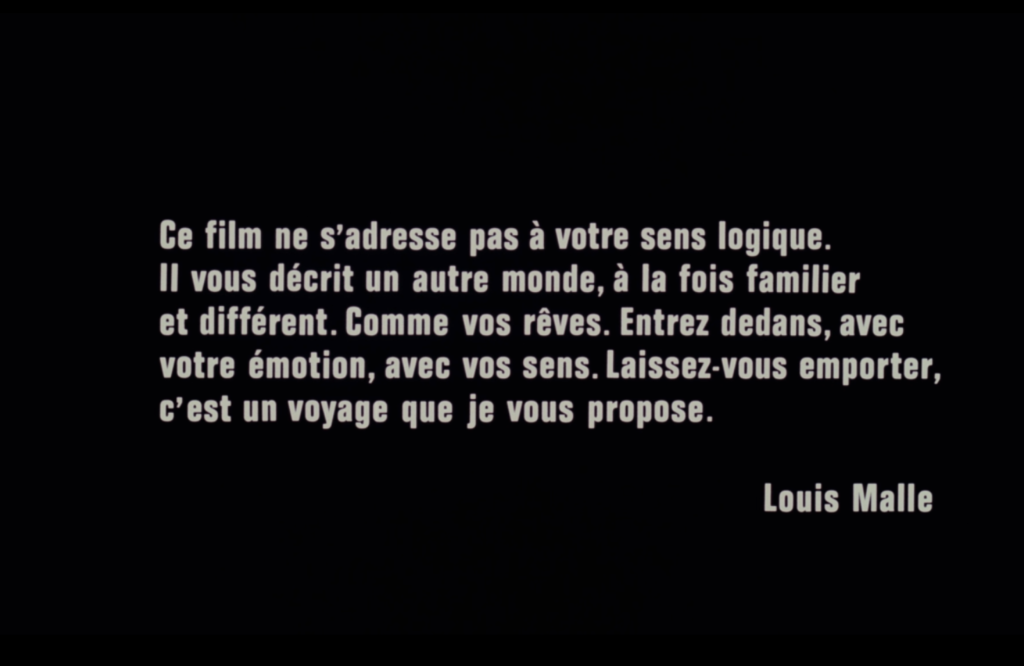 Title card for Louis Malle's Black Moon