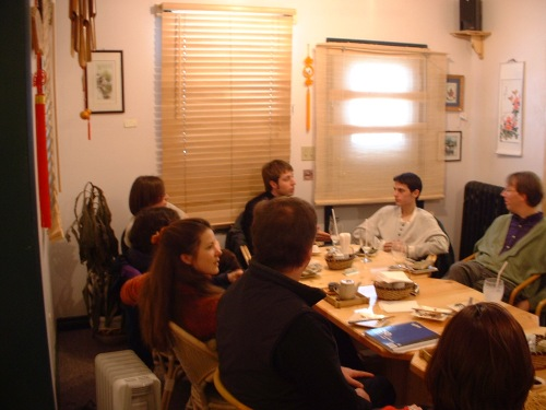 Photo by Will Pate of a Blogger Meetup at Formosa Tea House from 2003