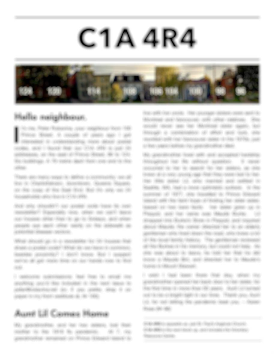 Obfuscated C1A 4R4 newsletter.