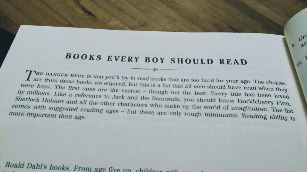 Books Every Boy Should Read (detail)