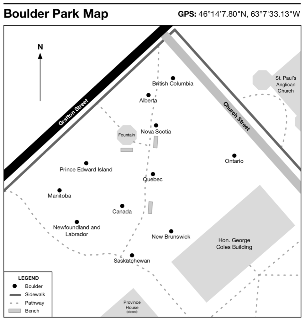 Charlottetown Boulder Park Map (from brochure)