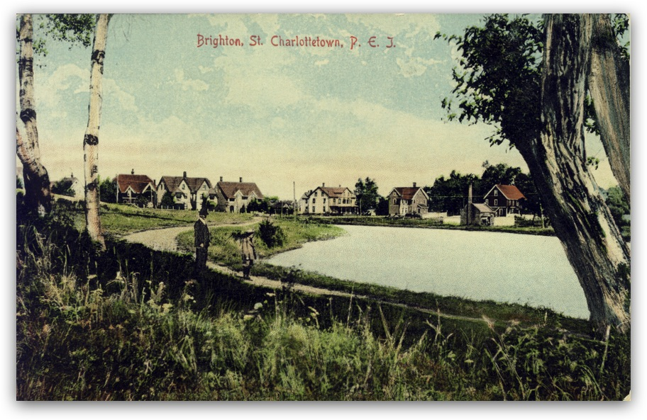 Historic postcard of Brighton Pond in Charlottetown