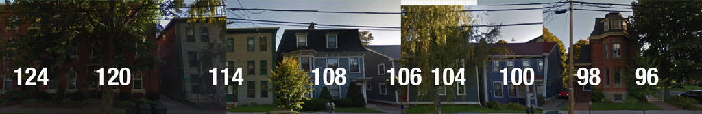 Rough panorama of Google Street View images of addresses in C1A 4R4