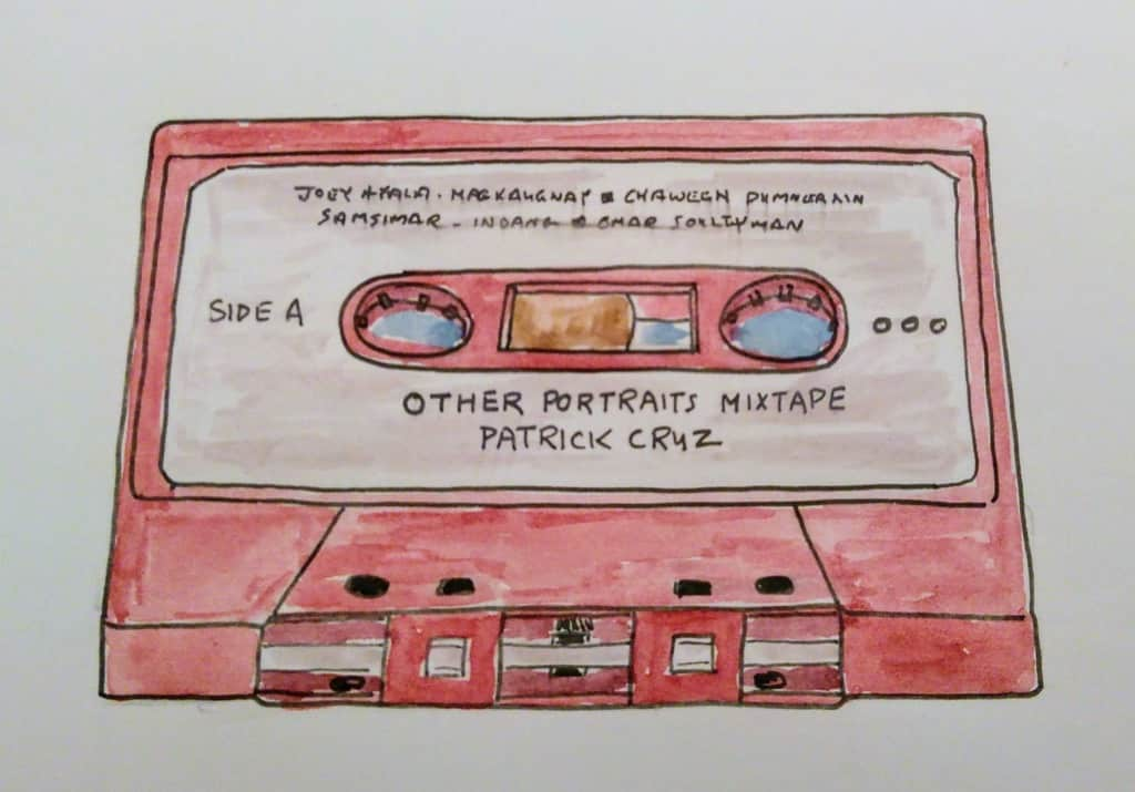 A Sketch of a Cassette Tape