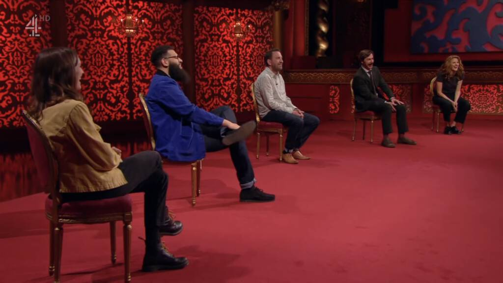 Cast of Series 11 of Taskmaster (screen shot from episode 5).