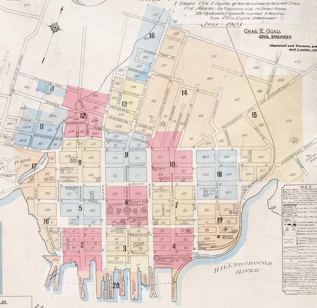 Charlottetown Fire Insurance Maps Index