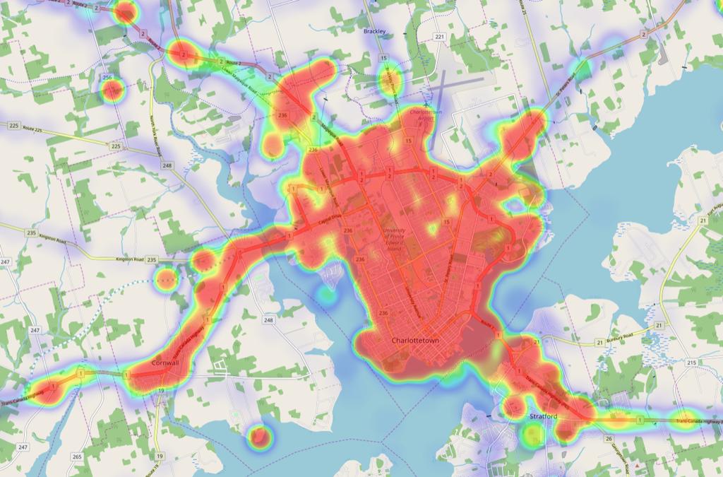 Charlottetown Heat Map
