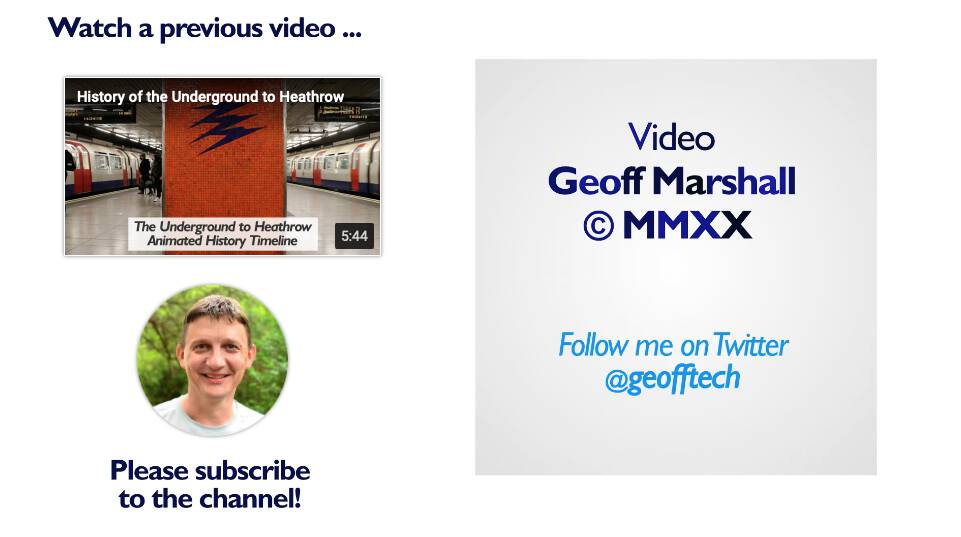 The closing frame of Geoff Marshall's video, with the year 2020 as MMXX.