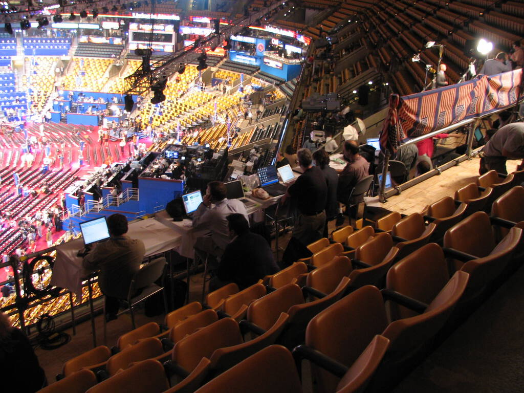 Bloggers.  Blogging.  At the DNC