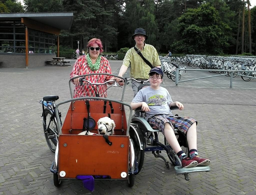 Family cycling in Netherlands